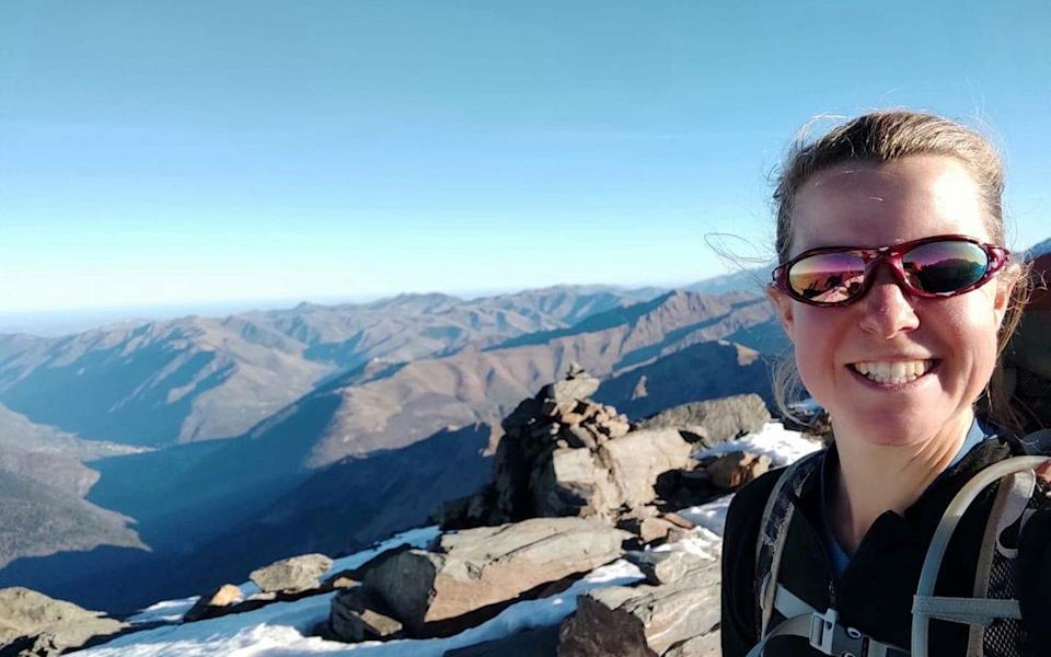 British woman Esther Dingley takes a selfie before being reported as missing, in Pico Tuca Salbaguardia - ESTHER & DAN/REUTERS