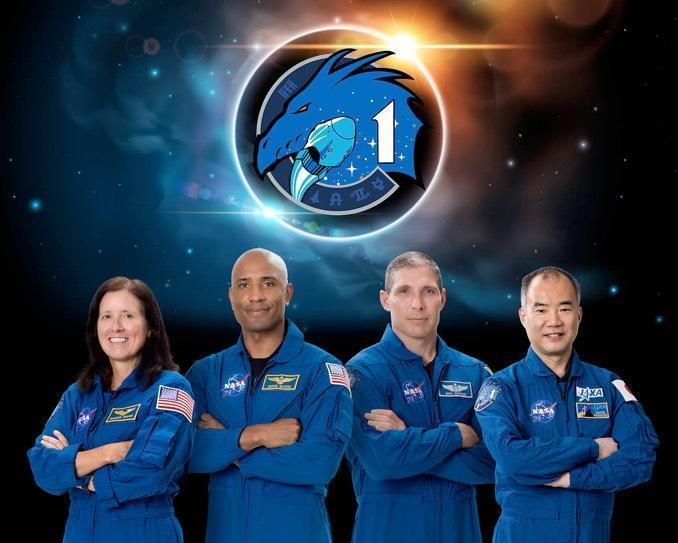 NASA's official portrait of the Crew 1 astronauts (left to right): Walker, Glover, Hopkins and Noguchi. / Credit: NASA