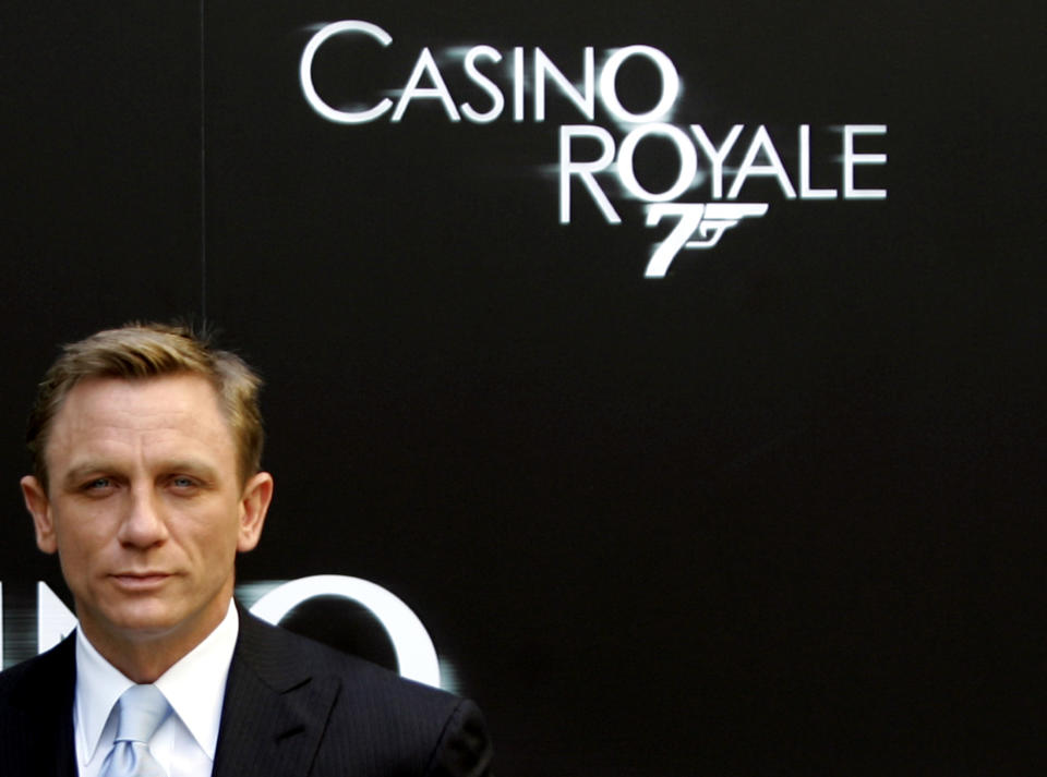 Actor Daniel Craig attends a photo call to promote his latest film