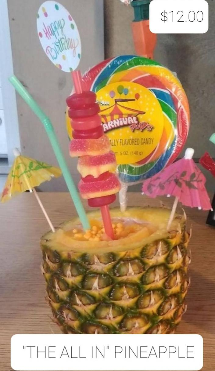 """One of Sweet Drip Factory's specialty drinks, """"The All In Pineapple."""""""