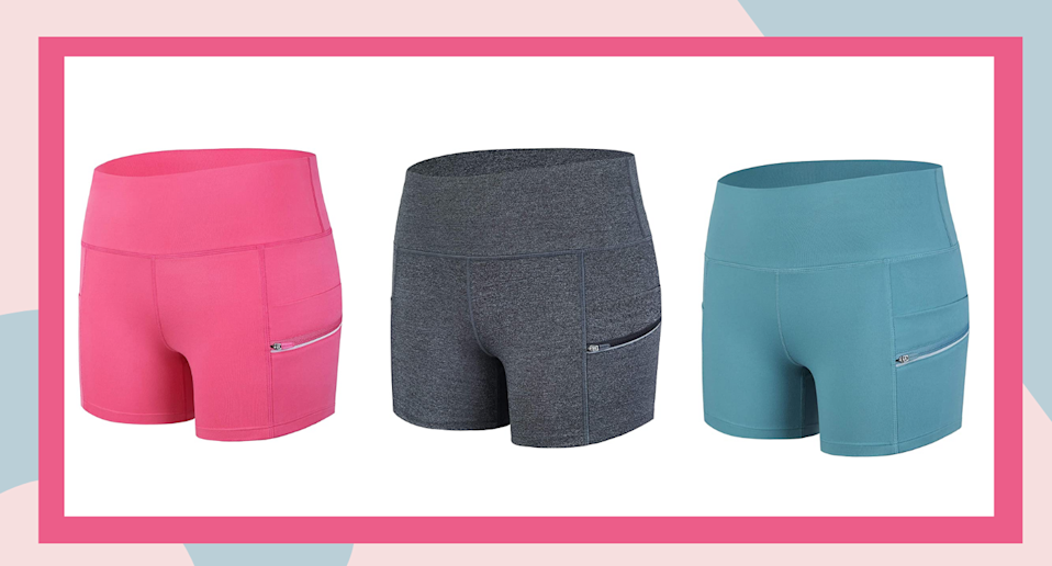 Amazon Canada shoppers can't get enough of these comfortable and flattering yoga shorts.
