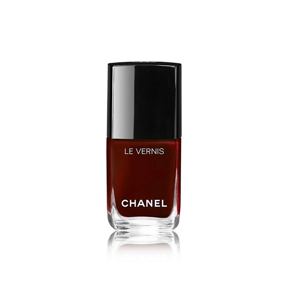 "We might not all be able to throw down for a Chanel bag, but $28 on nail polish is so much more doable. And nothing feels as luxurious as popping the top off of one of these chic glass bottles. The colors are rich and classic—descriptions you could certainly say fit the Chanel lifestyle. But nothing puts me more squarely in the fantasy than a red wine–inspired mani, which Rouge Noir is perfect for. The deep burgundy shade is a moody update to cherry red, but it's equally timeless. <em>—Erin Parker, commerce writer</em> $28, Nordstrom. <a href=""https://shop.nordstrom.com/s/chanel-le-vernis-longwear-nail-colour/4296192?"" rel=""nofollow noopener"" target=""_blank"" data-ylk=""slk:Get it now!"" class=""link rapid-noclick-resp"">Get it now!</a>"