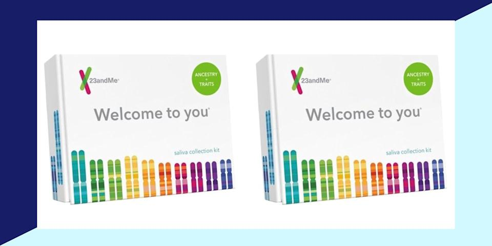 """One of the most popular human DNA testing kits is the<a href=""""https://fave.co/338JAuG"""" target=""""_blank"""" rel=""""noopener noreferrer"""">23andMe DNA Health + Ancestry Kit</a>, which has been a holiday bestseller for the past few years (Photo: Walmart x HuffPost)"""