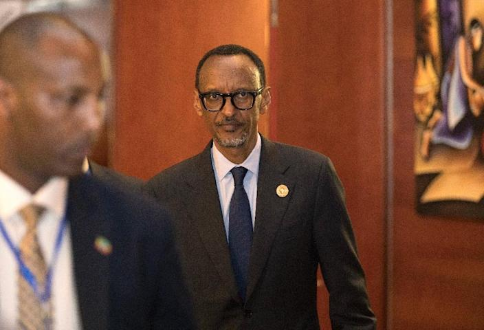 """Rwanda's President Paul Kagame criticised """"chronic failure to see through African Union decisions (which) had resulted in a crisis of implementation and a perception that the AU was not relevant to Africans"""" (AFP Photo/ZACHARIAS ABUBEKER)"""
