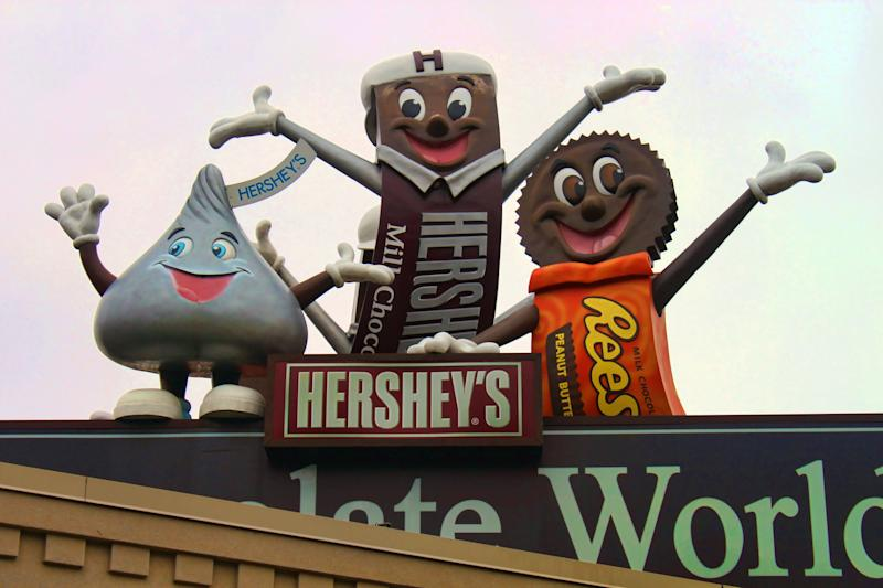 """Home to The Hershey Co., this destination in Derry Township, Pennsylvania, features <a href=""""https://www.hersheys.com/chocolateworld/en_us/home.html"""" target=""""_blank"""" rel=""""noopener noreferrer"""">Hershey's Chocolate World</a> factory store and tour, <a href=""""https://www.hersheypark.com/"""" target=""""_blank"""" rel=""""noopener noreferrer"""">Hersheypark</a> theme park, The Hotel Hershey and its <a href=""""https://www.chocolatespa.com/treatments/signature/chocolate.php"""" target=""""_blank"""" rel=""""noopener noreferrer"""">""""chocolate spa,""""</a> and many other attractions for lovers of all things chocolate."""