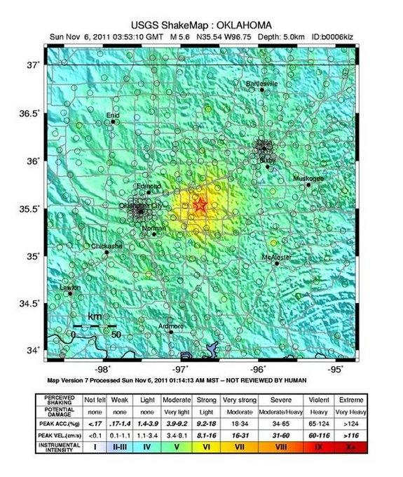 Largest Oklahoma Earthquake Linked to Oil Extraction Wastewater