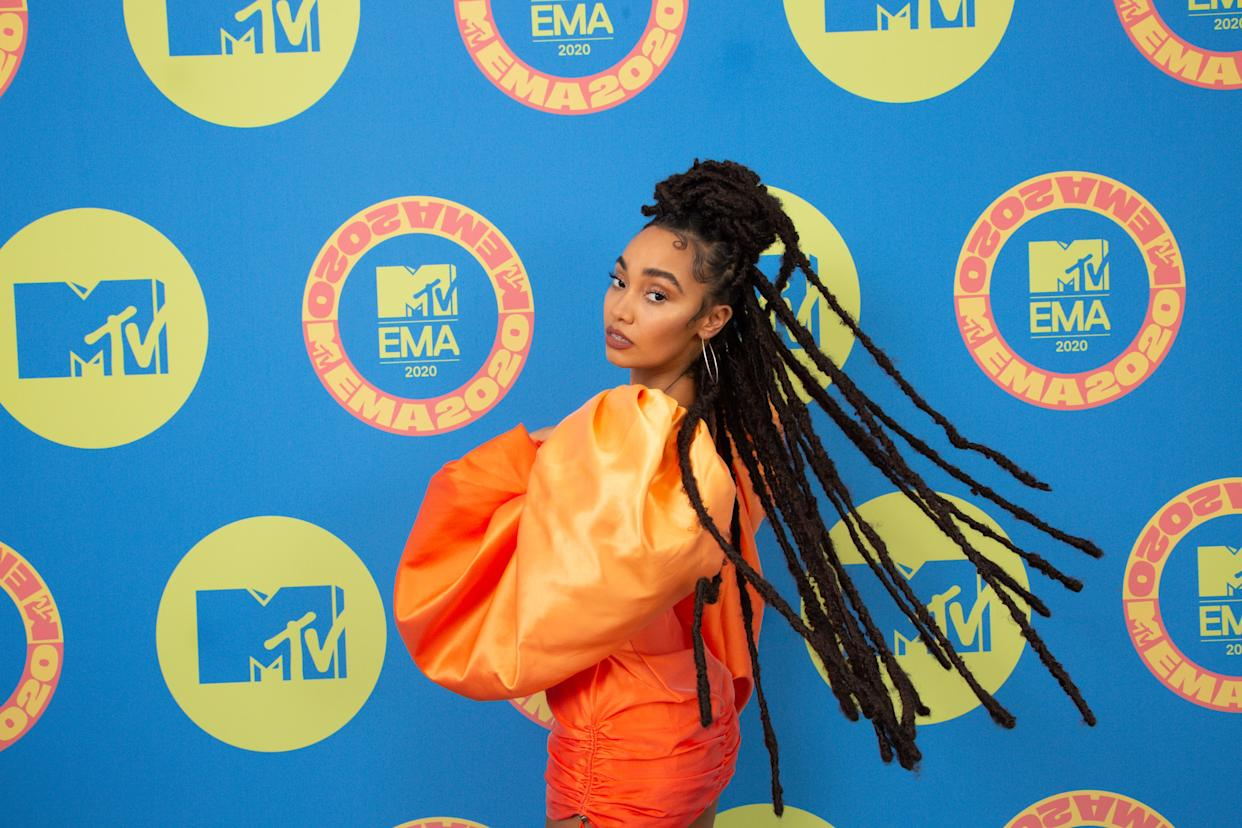 LONDON, ENGLAND - NOVEMBER 01: In this image released on November 08, Leigh-Anne Pinnock of Little Mix poses ahead of the MTV EMA's 2020 on November 01, 2020 in London, England. The MTV EMA's aired on November 08, 2020. (Photo by Callum Mills via Getty Images for MTV)