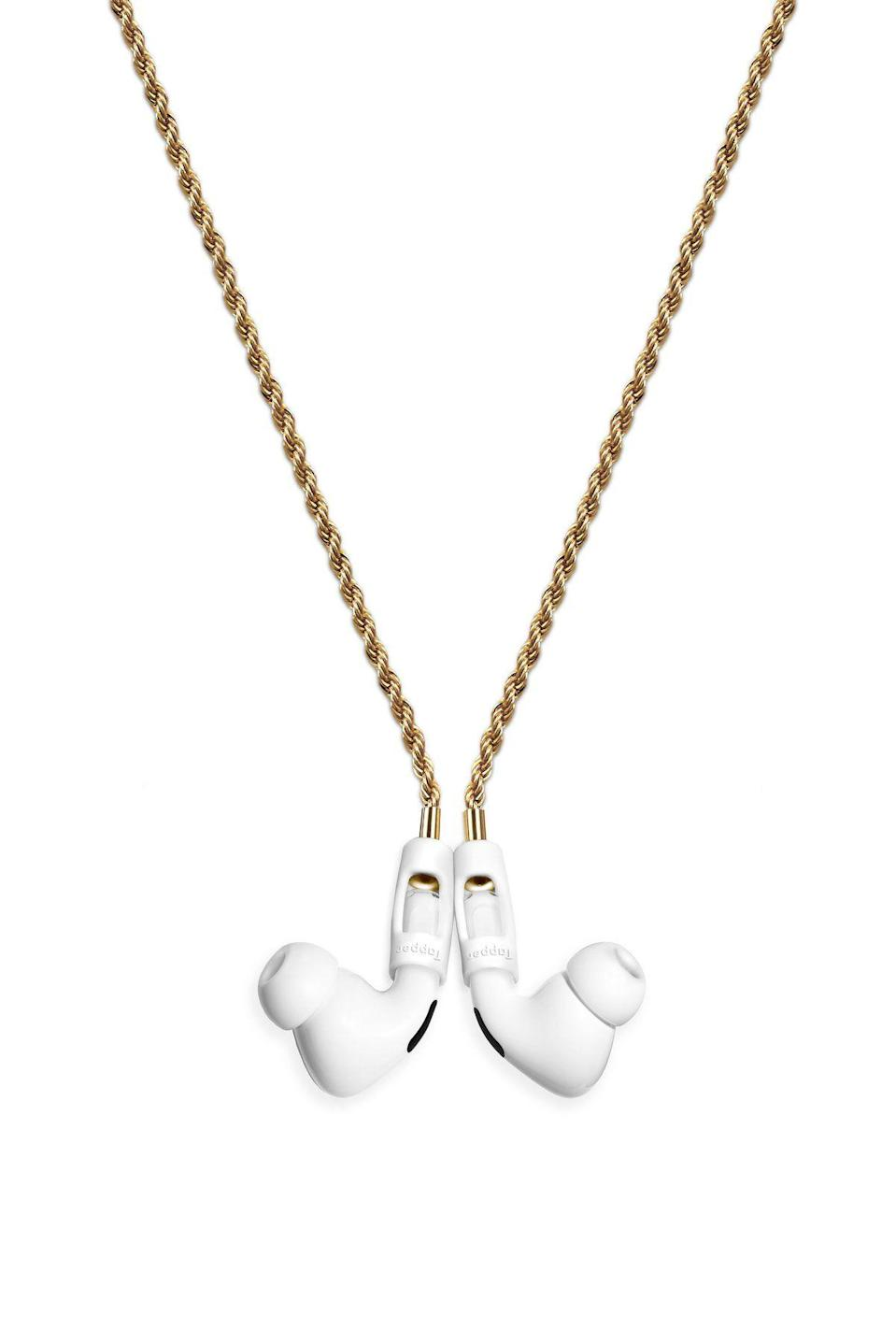 """<p><strong>Tapper</strong></p><p>gettapper.com</p><p><strong>80.00</strong></p><p><a href=""""https://www.gettapper.com/products/18k-gold-plated-rope-chain"""" rel=""""nofollow noopener"""" target=""""_blank"""" data-ylk=""""slk:Shop Now"""" class=""""link rapid-noclick-resp"""">Shop Now</a></p><p>She's on her fourth pair of AirPods? This chain will ensure that she never loses them again.</p>"""