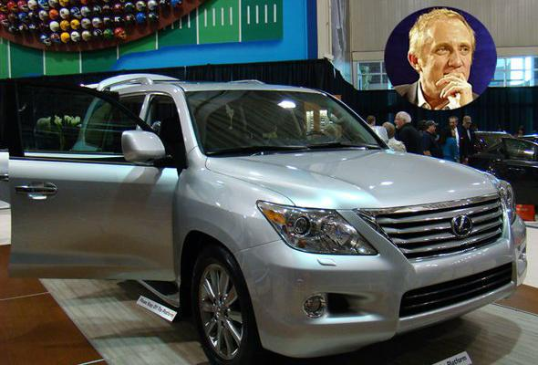 Super-rich clothier heir Francois-Henri Pinault shares this Lexus SUV with his gorgeous wife, Salma Hayek. New models run at about $40,000 without customizations. Information via motortrend.com and carscentre.com.