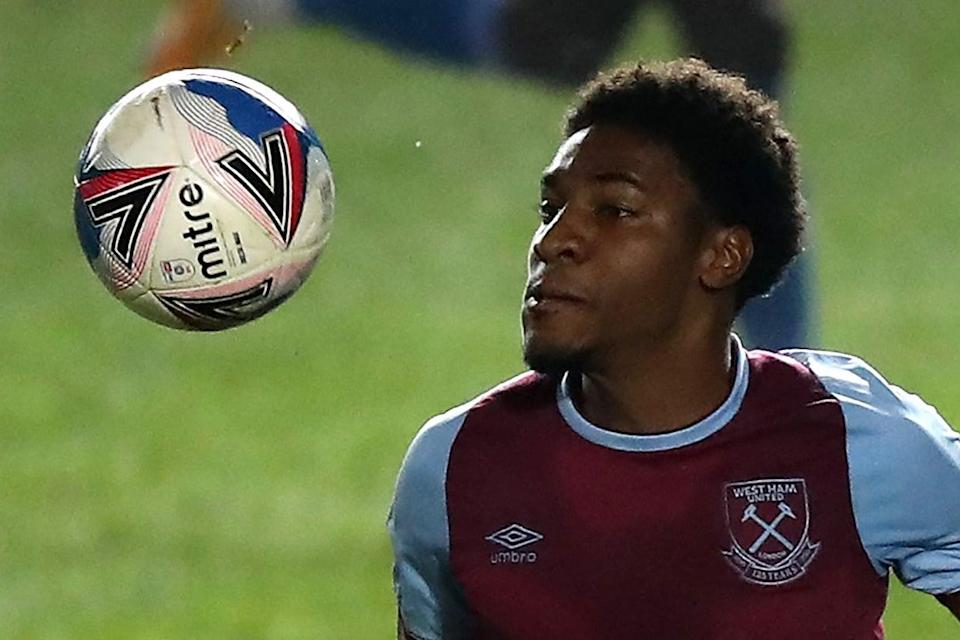 <p>Afolayan has risen through the ranks at West Ham</p> (Getty Images)