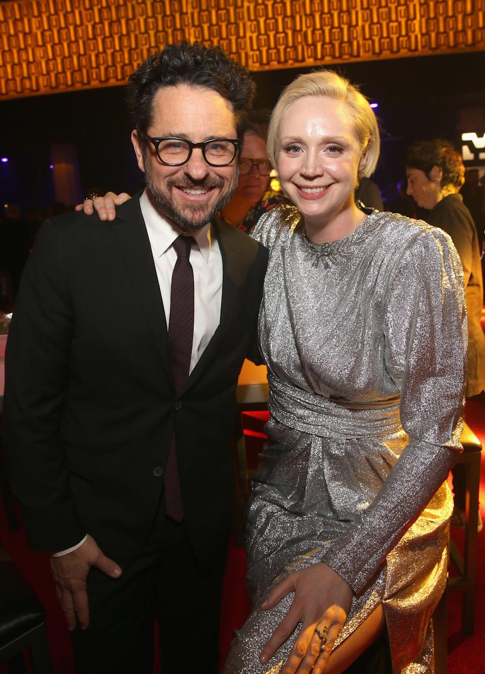 J.J. Abrams and Gwendoline Christie. (Photo: Jesse Grant/Getty Images for Disney)