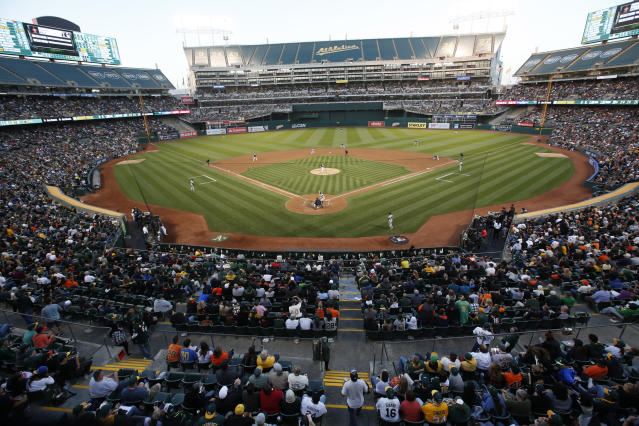 The Oakland Athletics are trying something new and replacing their season ticket plans with a membership plan. (Photo by Michael Zagaris/Oakland Athletics/Getty Images)