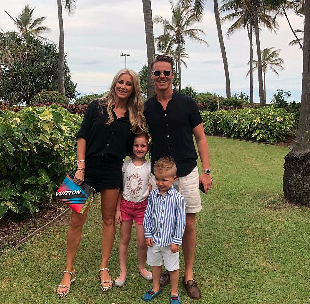 Roxy, Oliver, Pixie and Hunter on their family vacation last week. Source: Instagram