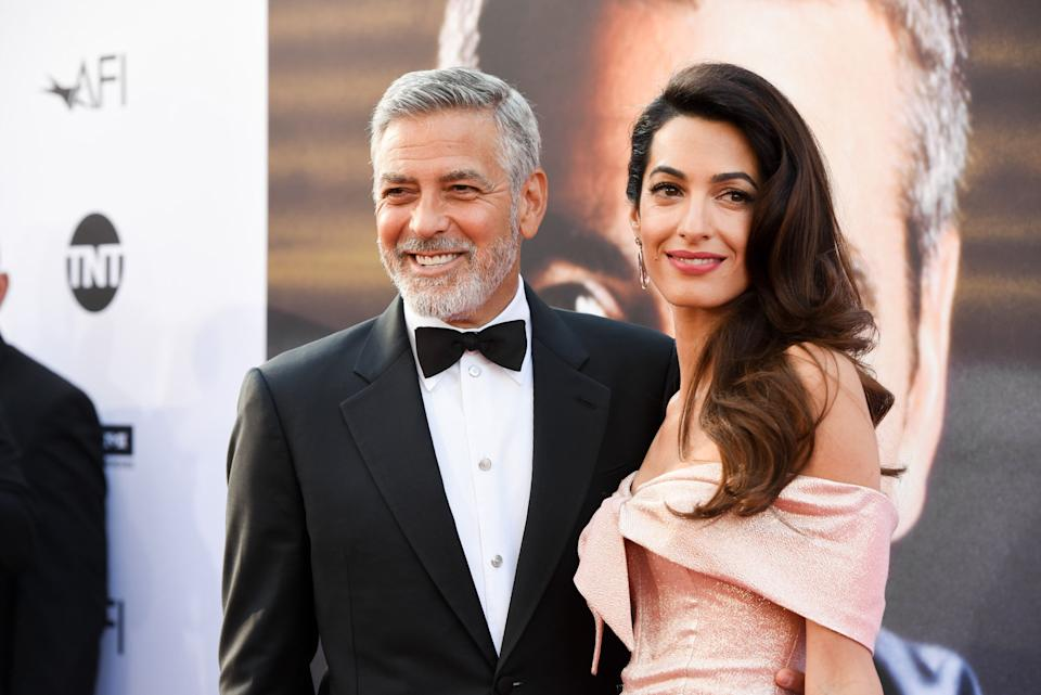 George and Amal Clooney welcomed twins in 2017. (Photo: Presley Ann via Getty Images)
