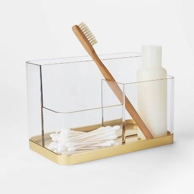 <p>The <span>Accent Vanity Organizer - Project 62™</span> ($10) also comes with a silver accent!</p>