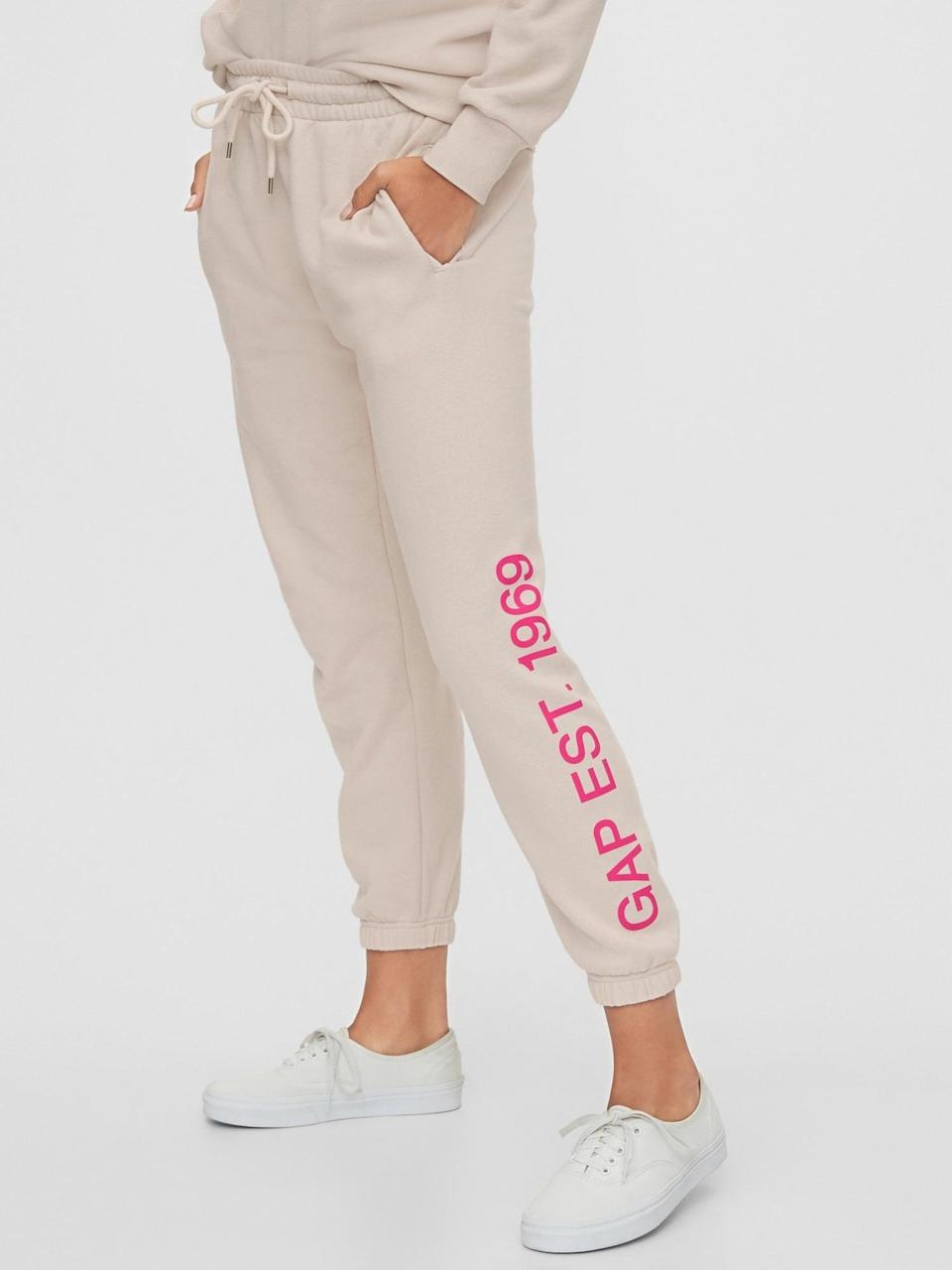 <p>And the <span>Gap Logo Joggers</span> ($50) to match!</p>