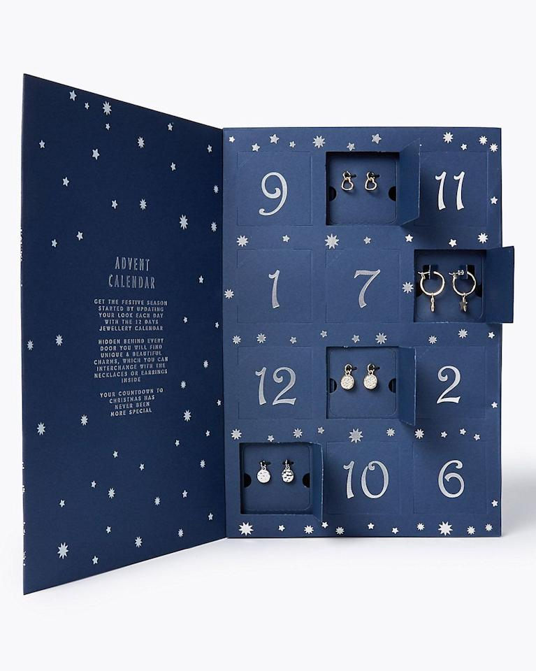 "<p><a class=""body-btn-link"" href=""https://go.redirectingat.com?id=127X1599956&url=https%3A%2F%2Fwww.marksandspencer.com%2Fchristmas-jewellery-advent-calendar%2Fp%2Fclp60164365&sref=https%3A%2F%2Fwww.housebeautiful.com%2Fuk%2Flifestyle%2Fshopping%2Fg150%2Falternative-advent-calendar%2F"" target=""_blank"">BUY NOW</a> £19.50 via M&S</p><p>M&S' 12 days of Christmas jewellery advent calendar includes a different charm behind each door, which can be interchanged with the earrings and necklaces included. Skin Kind™ metal means it's suitable even for extra sensitive skin. </p>"