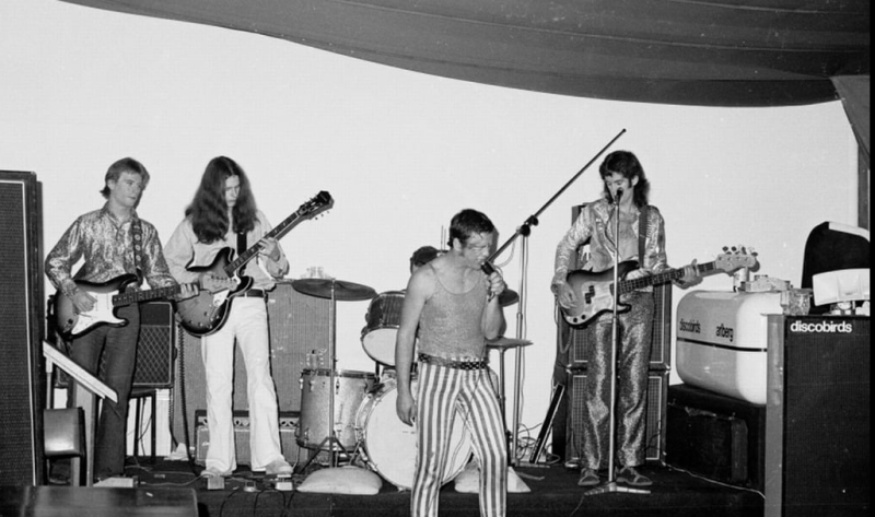 Skyhooks performing on stage