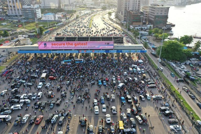 Lekki Toll Gate had become a place of protest, partying and prayers as thousands of mainly young people blocked one of the main highways in Lagos