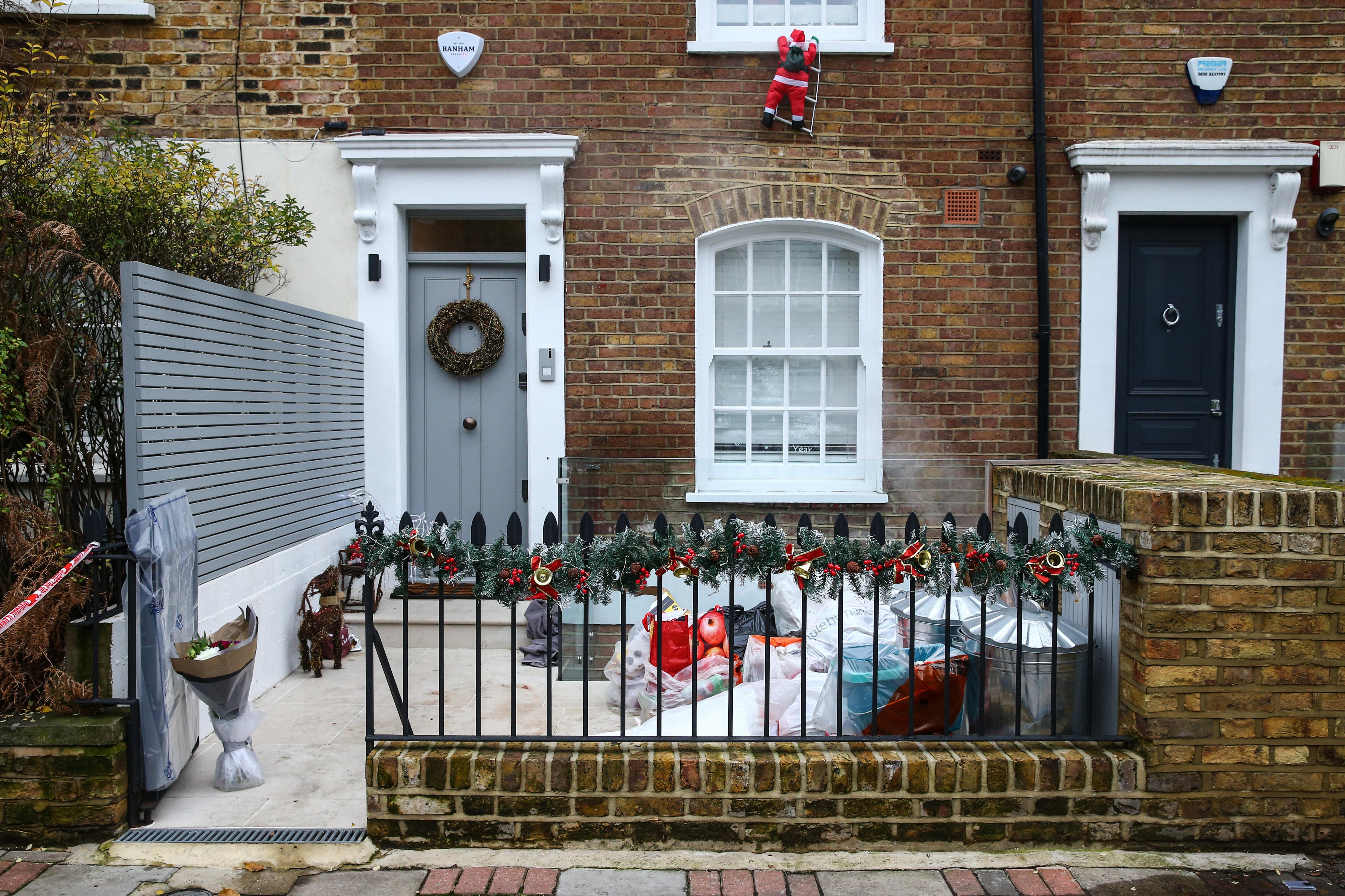 LONDON, ENGLAND - DECEMBER 27: The crime scene where Flamur Beqiri, 36, a father of one, was murdered on December 27, 2019 in south-west London, England. Beqiri was shot dead outside his home on Battersea Church Road on Christmas Eve. The Swedish national is the brother of former Real Housewives of Cheshire star Misse Beqiri. (Photo by Hollie Adams/Getty Images)