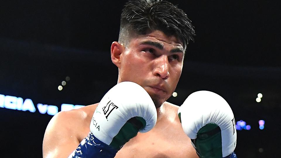 Mikey Garcia in the ring during his WBC & IBF World Lightweight Title fight agaisnt Robert Easter, Jr at Staples Center on July 28, 2018 in Los Angeles. (Jayne Kamin-Oncea/Getty Images)