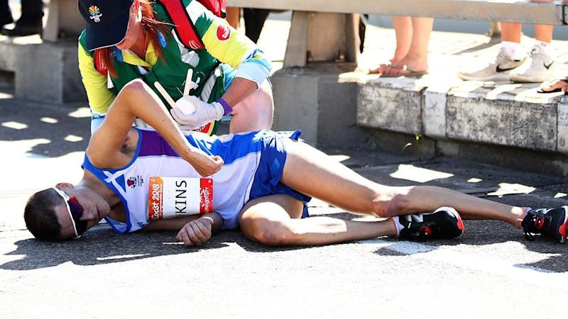 Hawkins just couldn't go any further. Pic: Getty