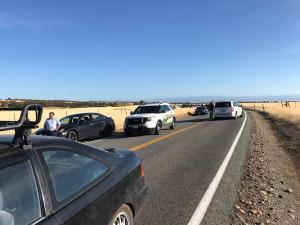 The scene in Rancho Tehama, California, following a deadly shooting there on Tuesday morning