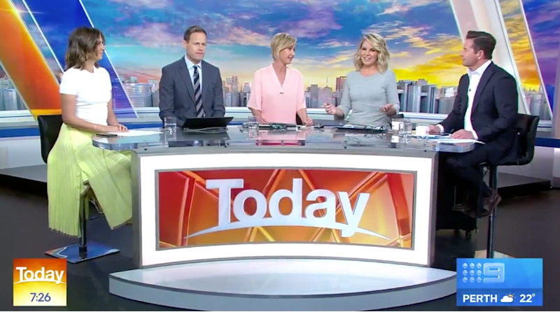 Today show panel Brooke Boney, Tom Steinfort, Debora Knight, Georgie Gardner, Steve Jacobs
