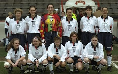 England's women's team in 1997 - Credit: GETTY IMAGES
