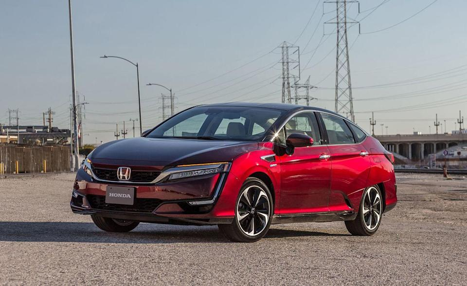 """<p>The <a href=""""https://www.caranddriver.com/honda/clarity"""" rel=""""nofollow noopener"""" target=""""_blank"""" data-ylk=""""slk:Honda Clarity"""" class=""""link rapid-noclick-resp"""">Honda Clarity</a> EV was <a href=""""https://www.caranddriver.com/features/g30168778/these-vehicles-are-dead-for-2020-discontinued/"""" rel=""""nofollow noopener"""" target=""""_blank"""" data-ylk=""""slk:discontinued in 2020"""" class=""""link rapid-noclick-resp"""">discontinued in 2020</a>, killing the only fully electric Honda in the United States market. And now, the remaining plug-in hybrid and hydrogen fuel-cell versions are gone too. Honda says the Clarity will be available as a lease through 2022, with Clarity FCV leases limited to California. The Clarity's departure leaves the <a href=""""https://www.caranddriver.com/hyundai/nexo"""" rel=""""nofollow noopener"""" target=""""_blank"""" data-ylk=""""slk:Hyundai Nexo"""" class=""""link rapid-noclick-resp"""">Hyundai Nexo</a> and <a href=""""https://www.caranddriver.com/toyota/mirai"""" rel=""""nofollow noopener"""" target=""""_blank"""" data-ylk=""""slk:Toyota Mirai"""" class=""""link rapid-noclick-resp"""">Toyota Mirai</a> as the only two FCVs available in the U.S. By that, we mean only in California. Although Clarity sales nearly matched the Chevrolet Bolt in 2019, last year wasn't as fruitful with just 1617 units moved. The Clarity FCV qualifies for up to $5000 in California <a href=""""https://www.caranddriver.com/news/a36562867/us-senate-panel-ev-tax-credit-increase/"""" rel=""""nofollow noopener"""" target=""""_blank"""" data-ylk=""""slk:Clean Vehicle rebates"""" class=""""link rapid-noclick-resp"""">Clean Vehicle rebates</a>, an HOV lane pass, and a fuel card for $15,000 worth of hydrogen fueling from Honda. The silver lining here is that Honda is likely making room for new models as part of their plan to <a href=""""https://www.caranddriver.com/news/a36209632/honda-ev-committment/"""" rel=""""nofollow noopener"""" target=""""_blank"""" data-ylk=""""slk:sell only battery-electric and hydrogen vehicles by 2040"""" class=""""link rapid-noclick-resp"""">sell only battery-electric and hydrogen ve"""