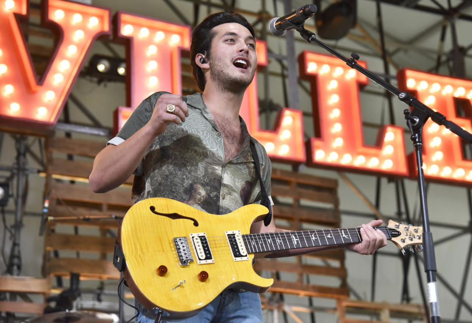 GEORGE, WASHINGTON - JULY 31: Laine Hardy performs during the 2021 Watershed music festival at Gorge Amphitheatre on July 31, 2021 in George, Washington. (Photo by Tim Mosenfelder/Getty Images)