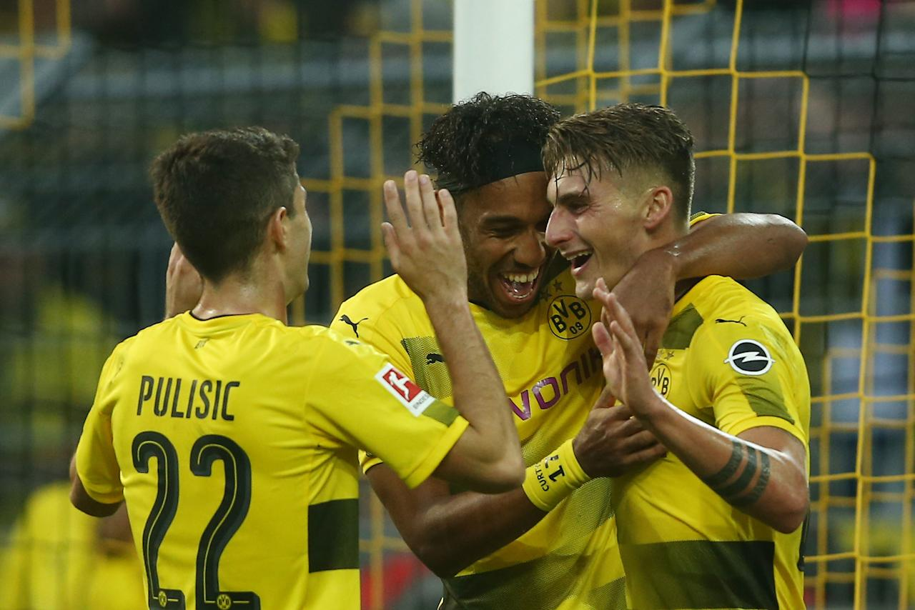 <p>Despite conceding their first goal of the season, Borussia Dortmund's unbeaten run continued after securing a 6-1 win against Borussia Moenchengladbach at the Westfalenstadion.</p><p>After a quiet opening 10 minutes, in which Dortmund dominated possession, Thorgan Hazard tested Roman Bürki with a powerful effort on the counter-attack. Captain Lars Stindl threaded a beautiful ball through for the Belgian forward but his shot was met by Bürki, who got two strong hands to the ball.</p><p></p><p>Tobias Sippel denied Pierre-Emerick Aubameyang with a stunning save, turning the ball around for a corner with his outstretched foot. The Gabonese striker met the resulting corner brilliantly but after beating Gladbach's keeper with a shot, the woodwork denied Aubameyang the opening goal of the game.</p><p></p><p></p><p>Having seen two shots fail to hit the back of the net, Aubameyang turned provider and after floating a ball into the middle of the box, Max Philipp guided a right-footed volley into the back of the net.</p><p></p><p></p><p>The German forward then notched his second brace in a week with a stunning left-footed strike into the top corner of Tobias Sippel's goal. After Mahmoud Dahoud pounced on some sloppy play from his old side, ex-Hoffenheim full-back Jeremy Toljan charged down the wing and found Philipp unmarked with a low cross, the 23-year-old smashing the ball into the back of the net.</p><p></p><p></p><p>Philipp then turned provider for Aubameyang right before half-time, the Gabonese striker tapping the ball into an empty net to reach double figures for the season and help round off a dominant first-half performance for <em>die Schwarzgelben</em>.</p><p></p><p></p><p>Just minutes after the restart, Aubameyang got his second goal of the game. Meeting a Mario Götze free-kick, Aubameyang saw his header hit the inside of the post, however, the ball bounced fortunately back to the Dortmund No. 17 and he made no mistake with the simple rebound.</p><p></p><p></p><p>The Gabonese international completed his hat-trick with 30 minutes left. In typical Aubameyang fashion, the striker raced onto a stunning through ball by Mahmoud Dahoud and took the ball around the helpless Sippel before clinically firing the ball into the back.</p><p></p><p></p><p>Almost immediately after, Lars Stindl ended Dortmund's incredible defensive record with a calm finish beyond Roman Bürki after a loose Hazard pass fell at his feet. Dortmund's defensive record lasted an incredible 538 minutes, with Max Kruse of Werder Bremen the last person to score against Dortmund before Stindl.</p><p></p><p></p><p>Julian Weigl, after only just returning from a long-term injury, scored the goal of the game with a stunning half-volley. Hitting the ball beautifully from the edge of the box, Weigl found the top corner to get his first goal for Dortmund in 61 appearances across all competitions.</p><p></p>