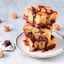 "<p>Decadent doesn't even BEGIN to describe these blondies. </p><p>Get the <a href=""https://www.delish.com/uk/cooking/a33231937/rolo-stuffed-blondies-recipe/"" rel=""nofollow noopener"" target=""_blank"" data-ylk=""slk:Rolo Stuffed Blondies"" class=""link rapid-noclick-resp"">Rolo Stuffed Blondies</a> recipe.</p>"