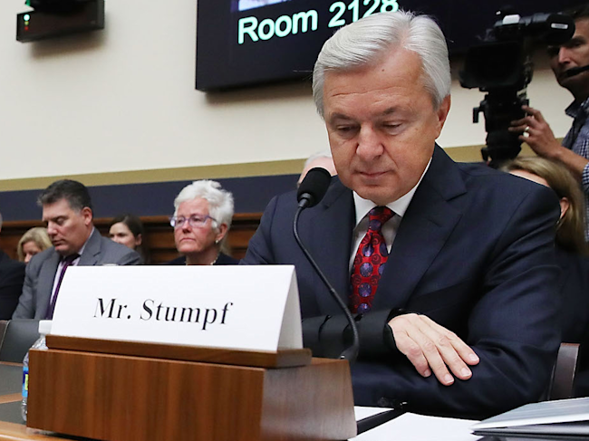 Wells Fargo CEO john Stumpf house testimony