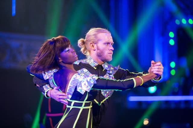 Jonnie Peacock was partnered with Oti Mabuse on Strictly Come Dancing