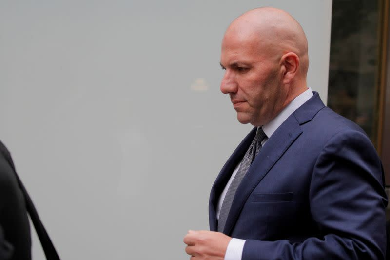 FILE PHOTO: U.S. businessman David Correia departs after his arraignment at the United States Courthouse in the Manhattan borough of New York City