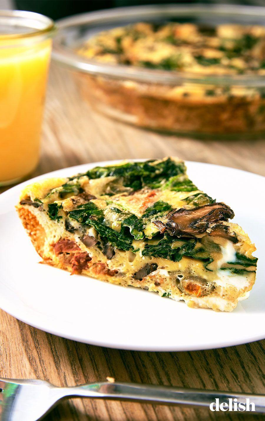 "<p>Don't worry, this low-carb dish is still full of flavor.</p><p>Get the recipe from <a href=""https://www.delish.com/cooking/recipe-ideas/a25648042/crustless-quiche-recipe/"" rel=""nofollow noopener"" target=""_blank"" data-ylk=""slk:Delish"" class=""link rapid-noclick-resp"">Delish</a>.</p>"