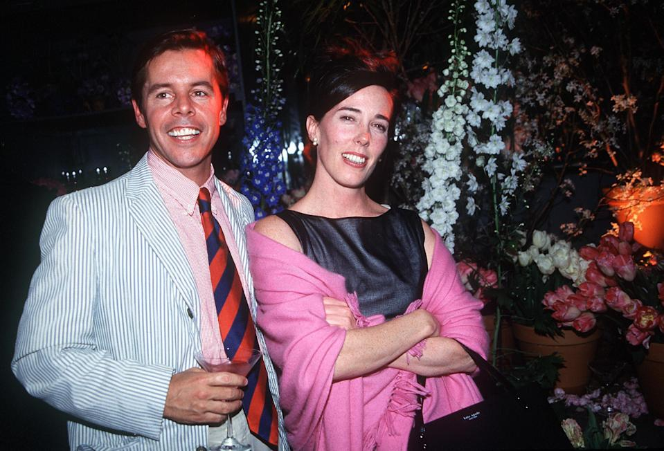 Kate and Andy Spade in 1999. (Photo: Globe Photos/ZUMAPRESS.com)