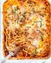"""<p>Your kids will adore this fun play on a traditional spaghetti and meatballs dinner: It's covered in extra cheese.</p><p><strong>Get the recipe at <a href=""""https://www.jocooks.com/recipes/baked-spaghetti-casserole/"""" rel=""""nofollow noopener"""" target=""""_blank"""" data-ylk=""""slk:Jo Cooks"""" class=""""link rapid-noclick-resp"""">Jo Cooks</a>.</strong> </p>"""
