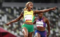 Jamaica's Elaine Thompson-Herah pulled off an unexpected victory to retain her Olympic 100 metres crown
