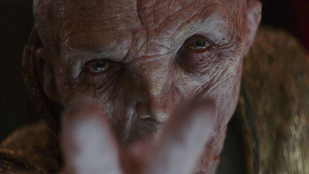 PHOTO: Andy Serkis, as Snoke, in a scene from 'Star Wars: The Last Jedi' official trailer. (Star Wars/YouTube)