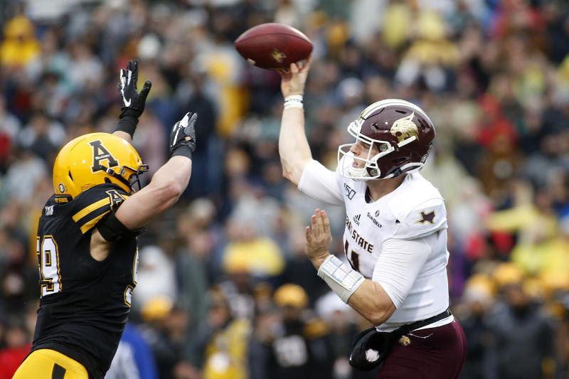 Evans scores 3 TDs, No. 23 App State tops Texas State 35-13