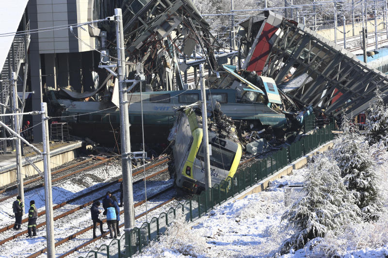 Turkey train crash: High-speed train crashes in Ankara