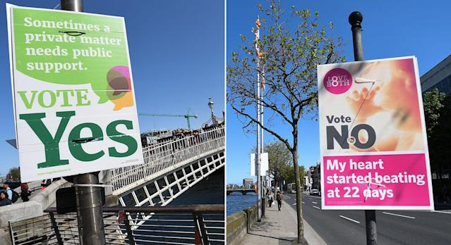 Ireland is voting on whether or not to repeal the country's Eighth Amendment. (Photo: Getty Images)