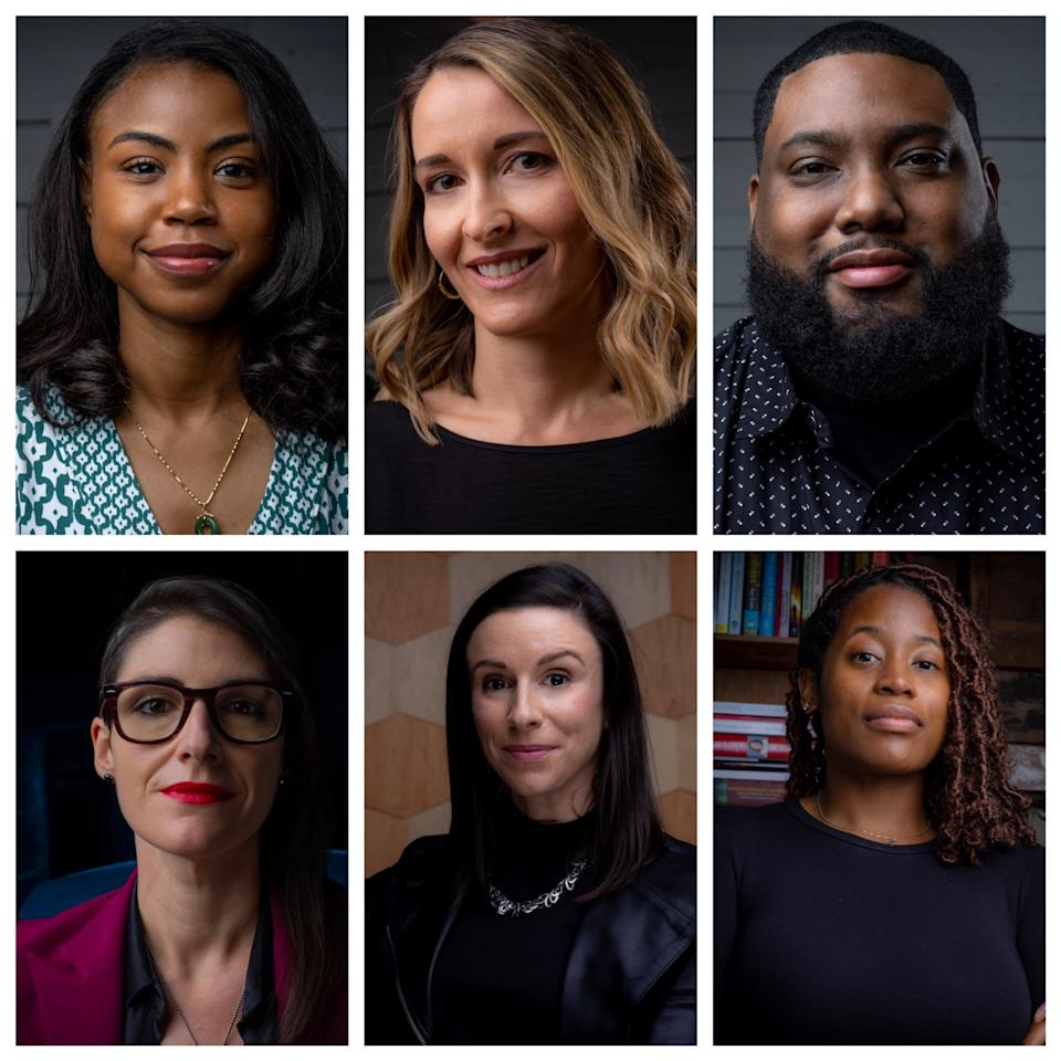 Top Row (L-R): Dià Brown, Anne-Marie McGintee, Eric Fisher; Bottom Row (L-R): MJ Caballero, Meredith Shea, Jasmine Mazyck - Credit: Courtesy of ARRAY