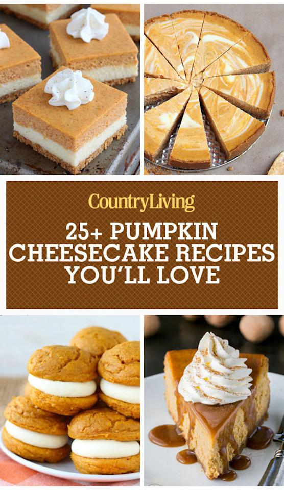 "<p><strong>Save these pumpkin cheesecake recipes for later by pinning this image and follow Country Living on </strong><a rel=""nofollow"" href=""https://www.pinterest.com/countryliving/""><strong>Pinterest</strong></a><strong> for more.</strong><span></span></p>"