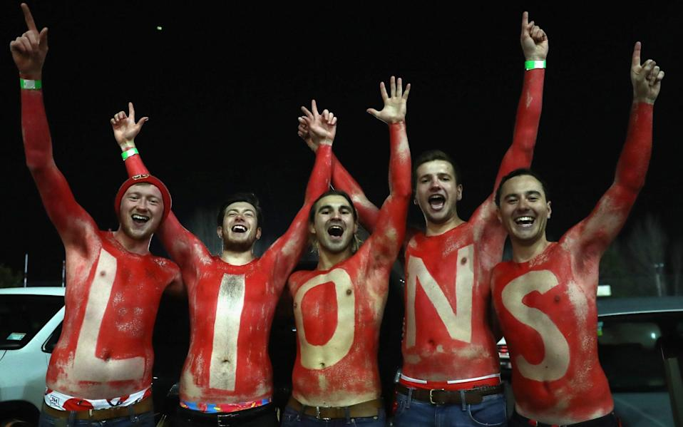 Lions fans cheer on their team - GETTY IMAGES