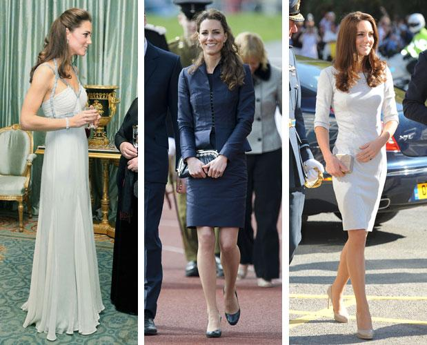 Kate Middleton Wears Amanda Wakeley