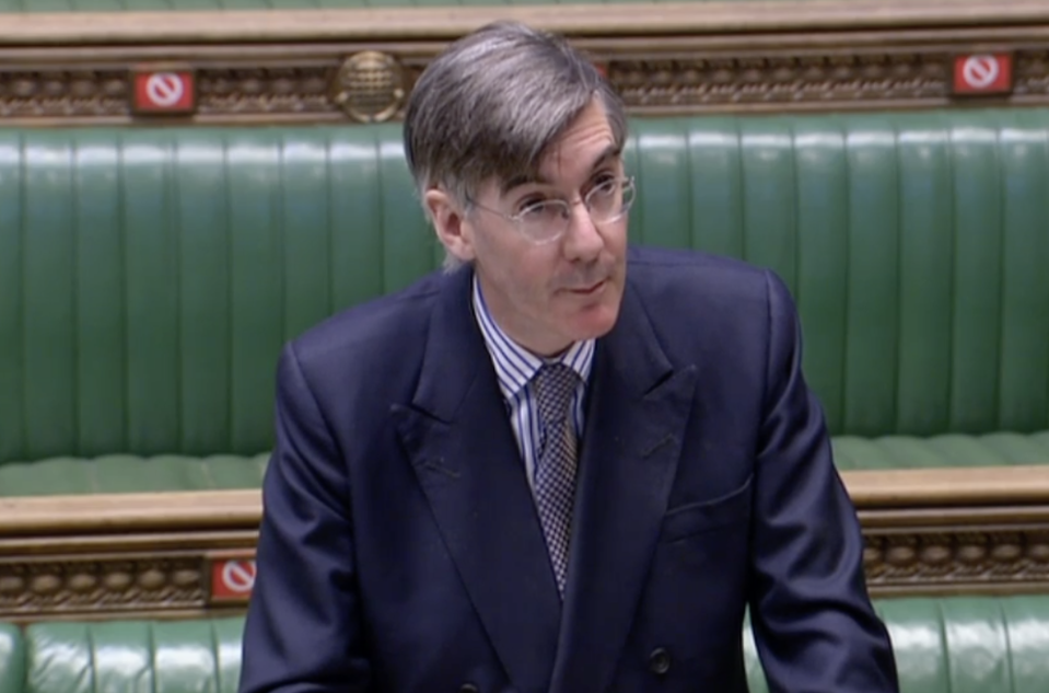 Jacob Rees-Mogg in the House of Commons on Thursday. (Parliamentlive.tv)