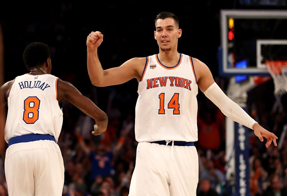 Willy Hernangomez has fallen out of the Knicks' rotation. (Getty Images)